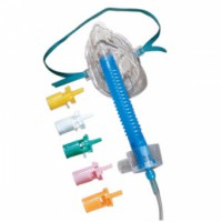 Oxygen Mask with Trach Tee Adapter, 7 ft. Tubing