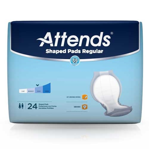 Attends Shaped Pads, Regular