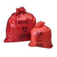 Biohazardous Bag, 1.5 mL, 23 x 23, Red