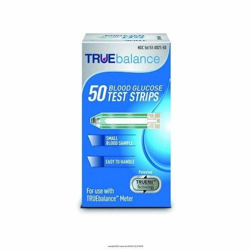 TRUEbalance Blood Glucose Test Strip for Drop Ship To Patient Only (50 count)
